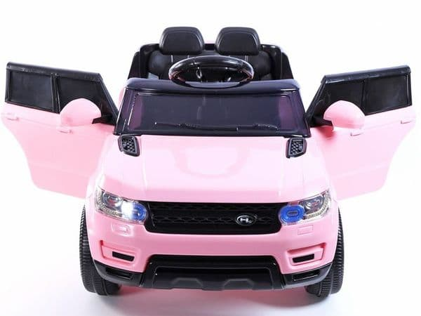 Junior Range Rover HSE Style PINK | 12v battery powered kids jeep sit & ride-in TOY car